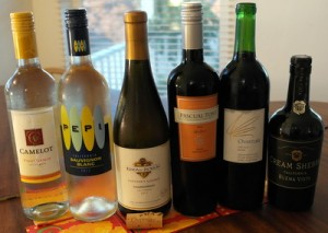 The evening's wines