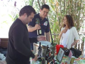 Our wine reps preparing for the event