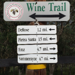 Wine Trail sign