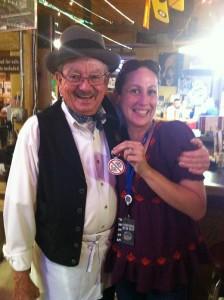 """Carmen Micheli and """"Bob"""" at Lutes Casino"""
